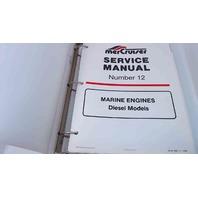 90-814099-1 MerCruiser Service Manual #12 Marine Engines Diesel Models
