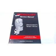 90-896580100 Mercury Service Manual 200-275 Verado 4Stroke #1 Important Info.