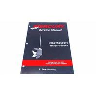 90-896580600 Mercury Service Manual Gear Housing 200/225/250/275 HP Verado