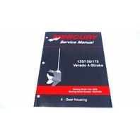 90-897928600 Mercury Service Manual Gear Housing 135/150/175 HP Verado 4 Stroke