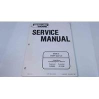 90-852396R1 Mercury Marine Service Manual Models 175XR Sport Jet