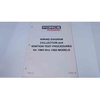90-823804 Force Outboards Wiring Diagram Models 1984 thru 1993