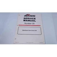 90-823228 MerCruiser Service Manual #20 Blackhawk Stren Drive Unit