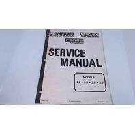 90-44477-1 Mercury Mariner Force Service Manual Models 2.2/2.5/3.0/3.3
