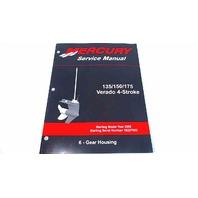 90-897928600 Mercury Service Manual Gear Housing 135-175 HP Verado 4 Stroke