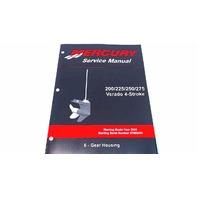 90-896580600 Mercury Service Manual Gear Housing 200-275 HP Verado