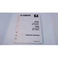 6BP-28197-1M-11 Yamaha Service Manual F25 PID 6BP-1000001 / T25 PID 6BL-1000001