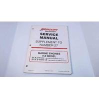 90-861784990 MerCruiser Service Manual Supplement #27 V8 Diesel D7.3L D-Tronic