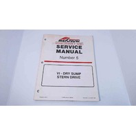 90-840250 MerCruiser Service Manual #5 VI-Dry Sump Stern Drive