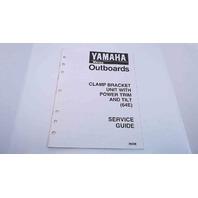 90894-62940-88 Yamaha Service Guide Clamp Bracket Unit W/Power Trim & Tilt(64E)