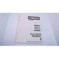 LIT-18750-00-98 Yamaha Flat Rate Manual 1996U/1997V/1998W