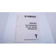 LIT-18750-00-2K Yamaha 2000 Outboard Flat Rate Manual