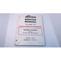 90-823224-2 MerCruiser Service Manual #16 Book 1 of 2 GM V8 454 CID/502 CID