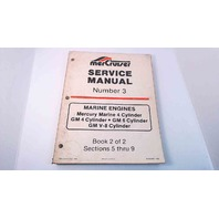 90-95693 MerCruiser Service Manual #3 Book 2 of 2 Marine Engines 4,6,V-8 Cyl