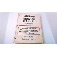 90-95693 MerCruiser Service Manual #3 Book 1 of 2 Marine Engines 4,6,V-8 Cyl