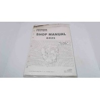NEW! Honda Engines Shop Manual GX25 Supplement to P/N 61Z0H00