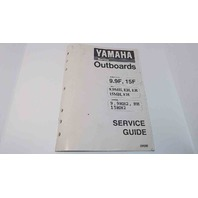 90894-62940-80 Yamaha Marine Outboards Service Guide 9.9F/15F 9.9MH/EH/ER/15MH +