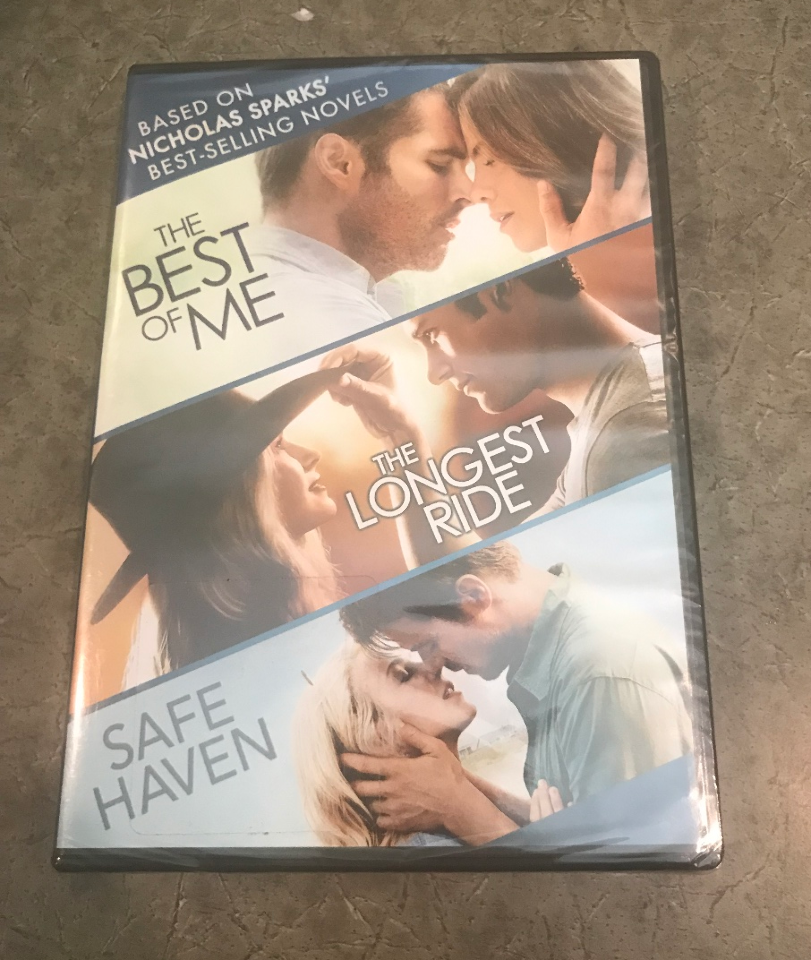 THE BEST OF ME/THE LONGEST RIDE/SAFE HAVEN NICHOLAS SPARKS 3-MOVIE DVD SET NEW