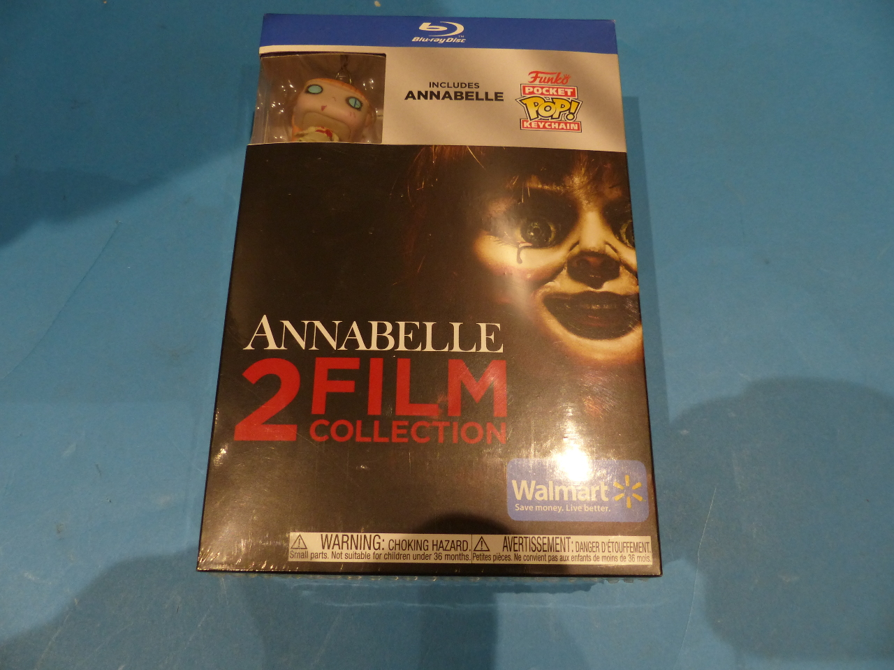 ANNABELLE 2 FILM COLLECTION WITH ANNABELLE POCKET POP KEYCHAIN BLU-RAY NEW