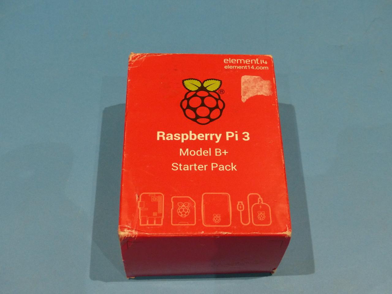 ELEMENT14 RASPBERRY PI 3 MODEL B+ STARTER PACK / QUAD CORE 64 BIT PROCESSOR