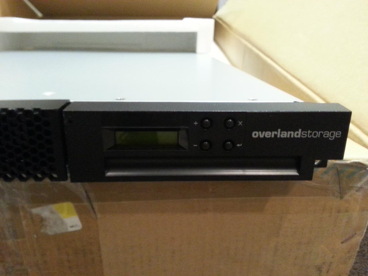 overland storage tape autoloader lto ultrium rack mountable 00v7183