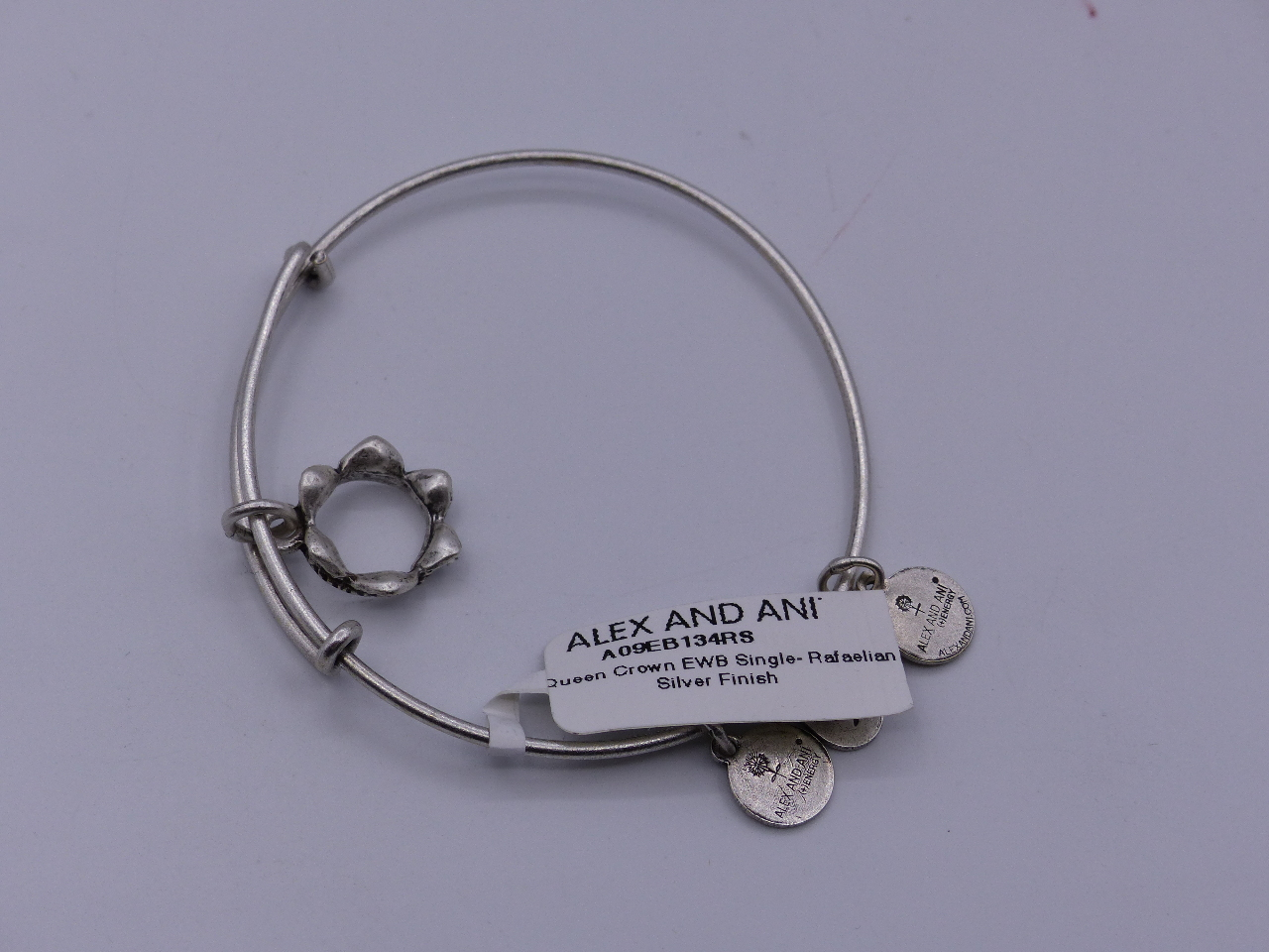 Alex And Ani Queen Crown Bracelet Silver Finish Comes W Card Charm Bangle Bracel