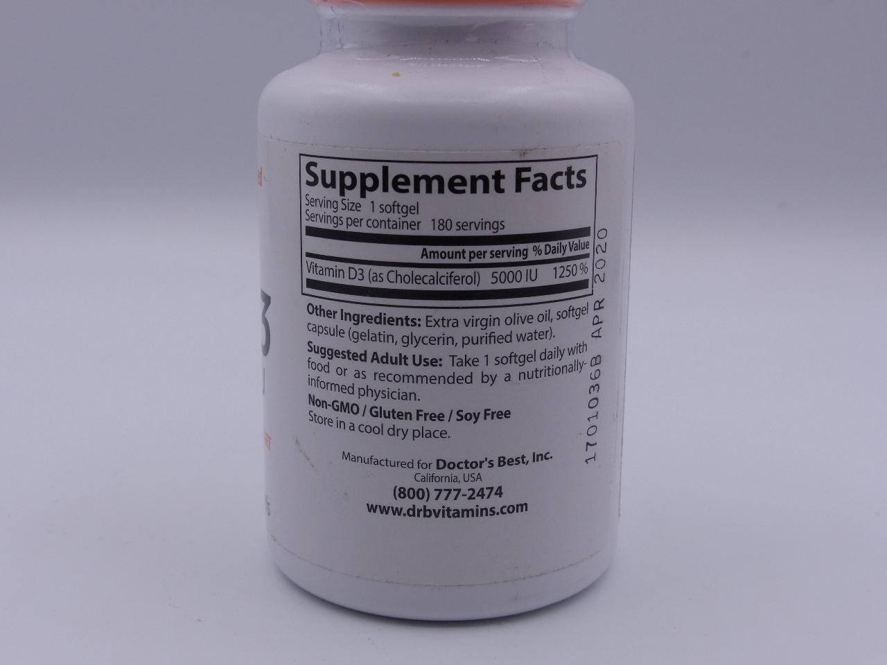 Best Vitamin D3 Supplement 2020 DOCTORS BEST VITAMIN D3 4/2020 | MDG Sales, LLC