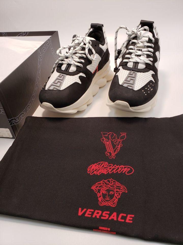 versace chain white