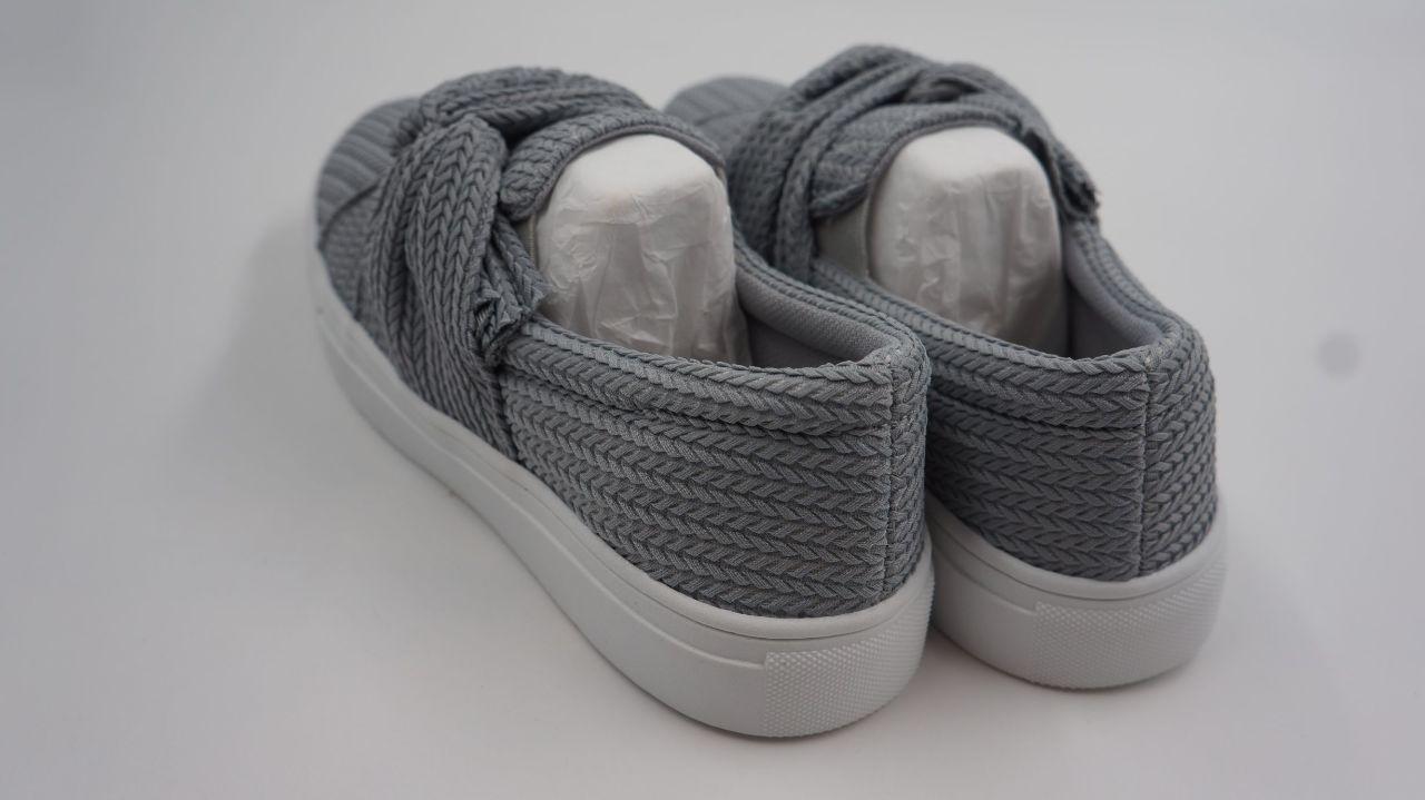 womens knitted twist slip on sneakers