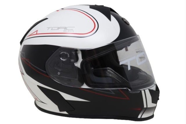 TORC T-14 T14B15SK225 FULL FACE HELMET W/BLINC BLUETOOTH STRYKER WHITE XL