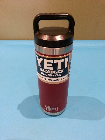 YETI RAMBLER 18 OZ  BOTTLE BRICK RED 21071300062