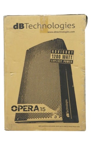DB TECHNOLOGIES OPERA-15 15 IN 2-WAY ACTIVE SPEAKER