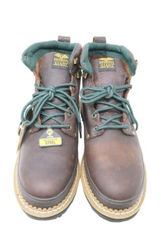 GEORGIA G6374 MENS 6IN BROWN GIANT WORK BOOTS SIZE 11.5W
