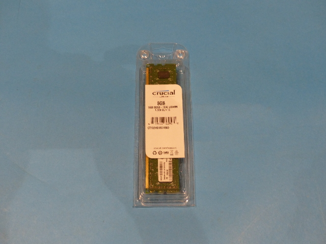 CRUCIAL TECHNOLOGY CT102464BD186D 8GB DDR3 1866 UDIMM MEMORY MODULES