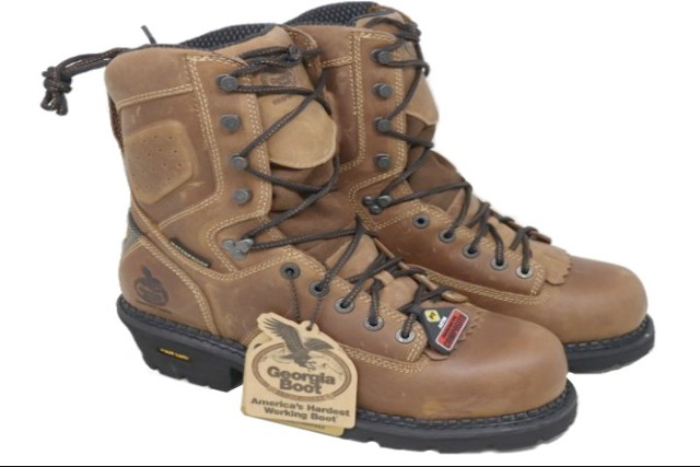 GEORGIA BOOT GB00098 MENS INSULATED LOGGER WORK BOOTS SIZE 8