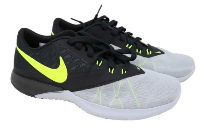 NIKE FS LITE TRAINER 4 844794 004 MENS WOLF GREY/VOLT-BLACK SHOES SIZE 8.5