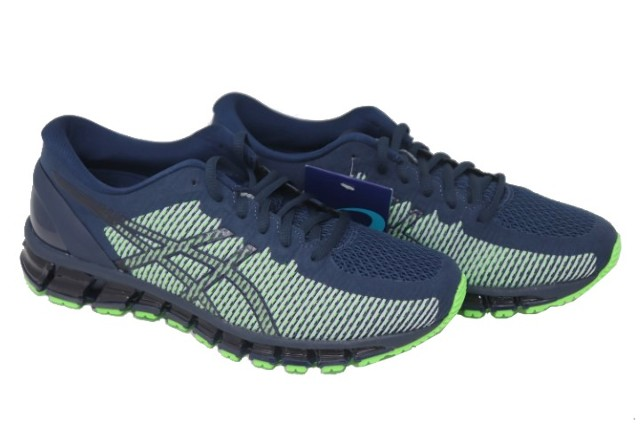 ASICS GEL-QUANTUM 360 CM 1021A134-402 MENS PEACOAT/SAFETY YELLOW RUNNING SHOES SIZE 11
