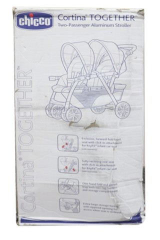 CHICCO 05079043210070 MERIDIAN CORTINA TOGETHER DOUBLE STROLLER