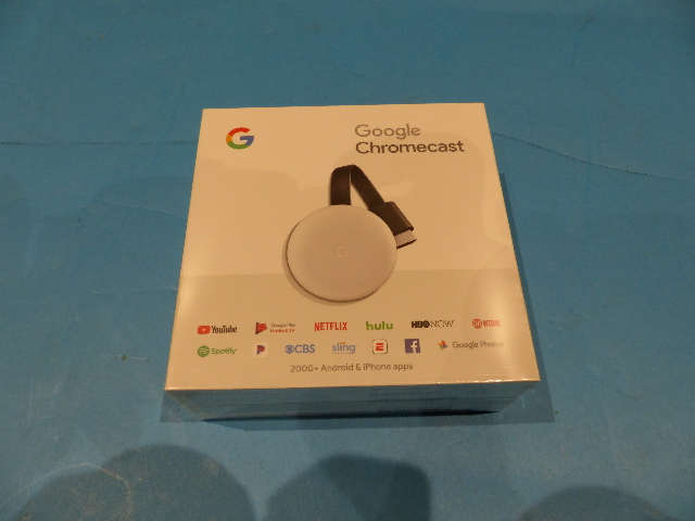 GOOGLE CHROMECAST GA00422-US CHALK 3RD GEN MEDIA STREAMING DEVICES