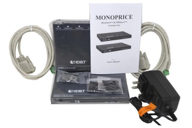 MONOPRICE 121792 BLACKBIRD 4K HDBASE-T EXTENDER KIT, 2-WAY POH