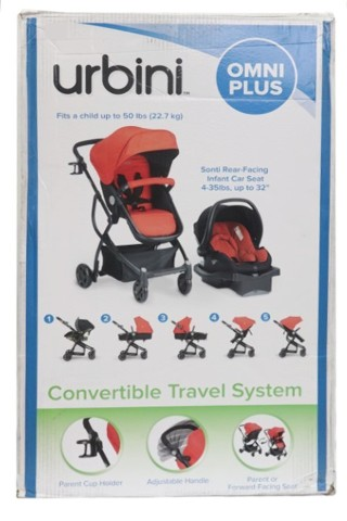 URBINI OMNI PLUS 10EA1Y-REDU RED 3 IN 1 TRAVEL SYSTEM - INFANT CAR SEAT AND STROLLER