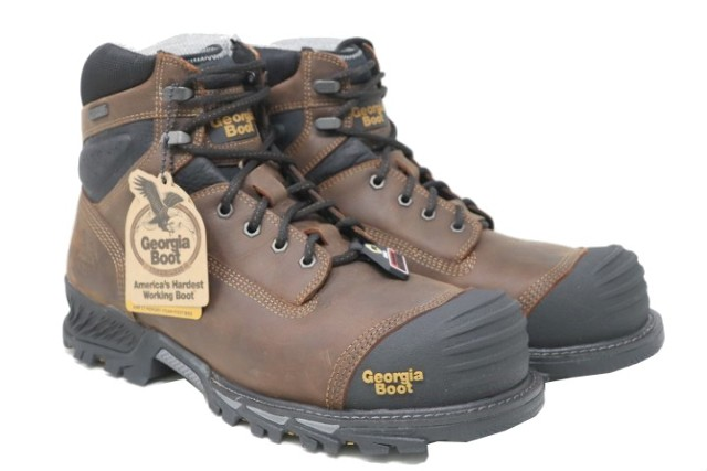 GEORGIA BOOT GB00284 MENS 6IN RUMBLER COMP TOE WATERPROOF WORK BOOTS SZ 13W