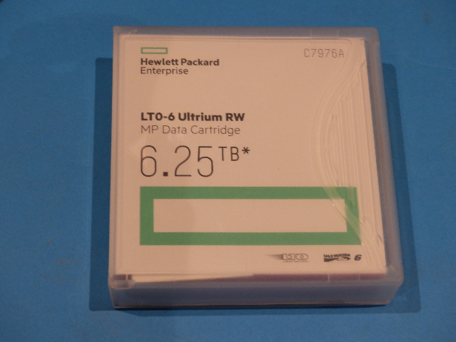 QTY 5 HPE LTO ULTRIUM 6 C7976A 6.25TB DATA CATRIDGES