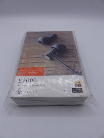 FINAL AUDIO DESIGN E2000 HI-RES EARPHONE BLACK