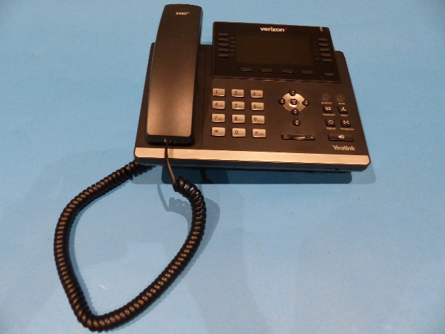 VERIZON YEALINK ULTRA-ELEGANT GIGABIT IP TELEPHONE BASE SET SIP-T46G