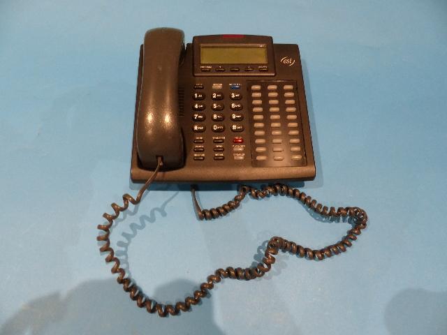ESI 48 KEY DARK GREY BUSINESS PHONE WITH CORD & PHONE RECEIVER