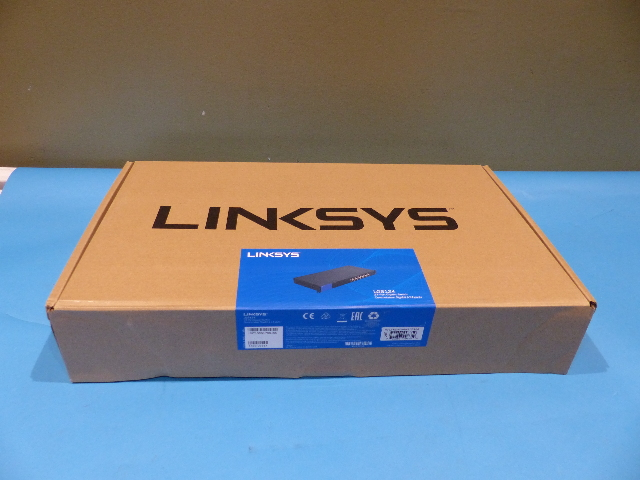 LINKSYS BUSINESS LGS124 24-PORT RACKMOUNT GIGABIT ETHERNET NETWORK SWITCH