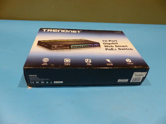 TRENDNET TPE-1020WS 10-PORT GIGABIT WEB SMART POE+ SWITCH