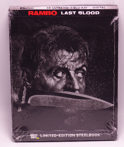 RAMBO LAST BLOOD LIMITED EDITION STEELBOOK DIGITAL COPY + 4K ULTRA HD + BLU-RAY