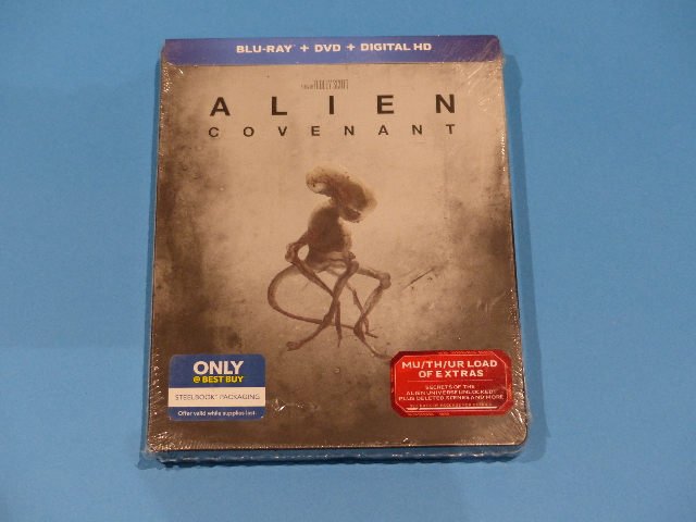 ALIEN COVENANT BLU-RAY + DVD + DIGITAL STEELBOOK NEW